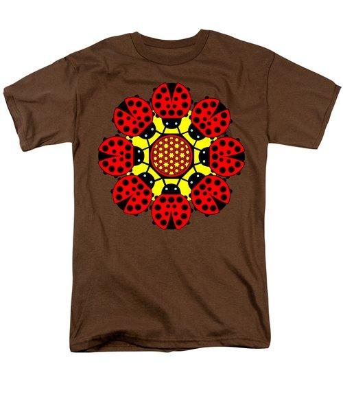Eight Lucky Ladybirds Men's T-Shirt  (Regular Fit) by John Groves
