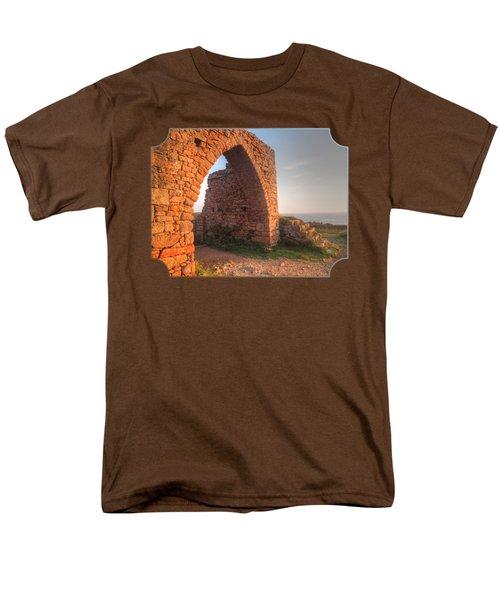 Evening Light On Grosnez Castle Ruins Jersey Men's T-Shirt  (Regular Fit) by Gill Billington