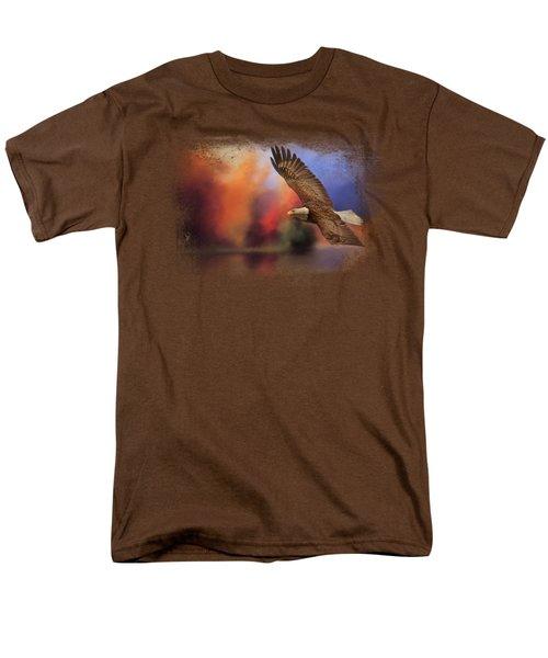 Fall Flight - Bald Eagle Men's T-Shirt  (Regular Fit) by Jai Johnson