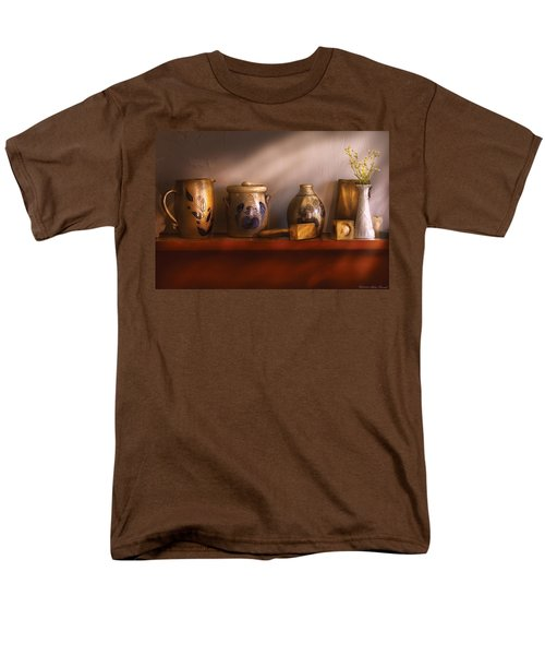 Furniture - Shelf - Family Heirlooms  T-Shirt by Mike Savad