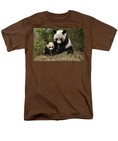 Giant Panda Ailuropoda Melanoleuca T-Shirt by Katherine Feng