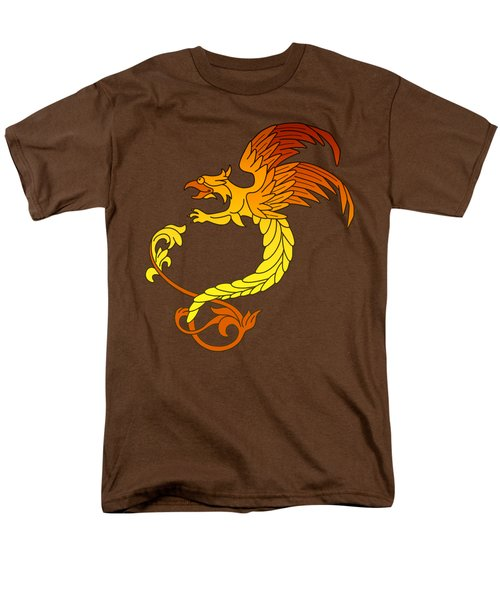 Griffin Griffon Gryphon In Flaming Colours Men's T-Shirt  (Regular Fit) by Heidi De Leeuw