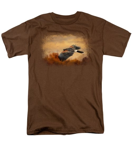 Harris Hawk In Autumn Men's T-Shirt  (Regular Fit) by Jai Johnson
