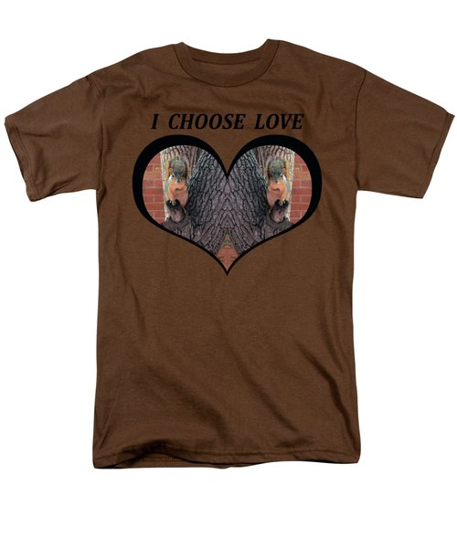 I Chose Love With Squirrels Hands On Hearts Men's T-Shirt  (Regular Fit) by Julia L Wright