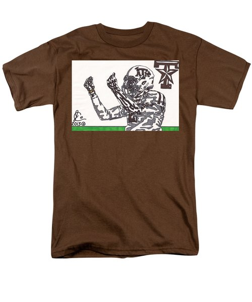 Johnny Manziel 10 Change The Play T-Shirt by Jeremiah Colley