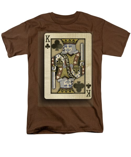 King Of Clubs In Wood Men's T-Shirt  (Regular Fit) by YoPedro