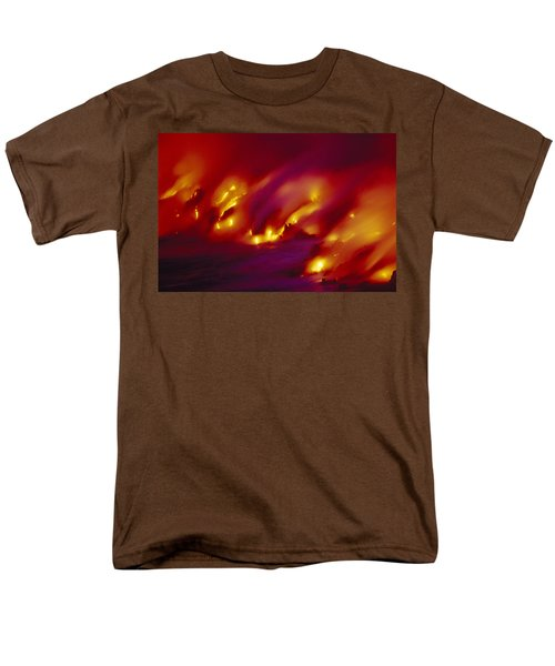 Lava Up Close Men's T-Shirt  (Regular Fit) by Ron Dahlquist - Printscapes