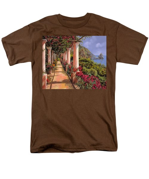 le colonne e la buganville T-Shirt by Guido Borelli
