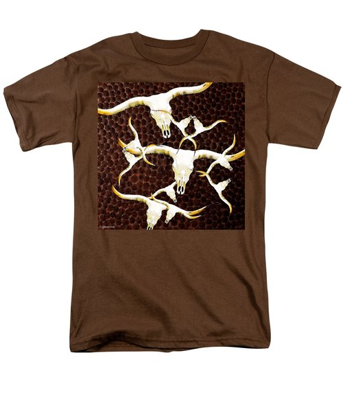 Longhorn Art - Cattle Call - Bull Cow T-Shirt by Sharon Cummings