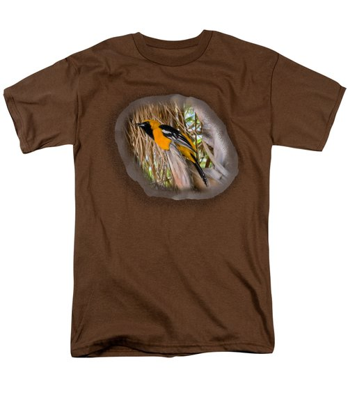 Male Hooded Oriole H17 Men's T-Shirt  (Regular Fit) by Mark Myhaver
