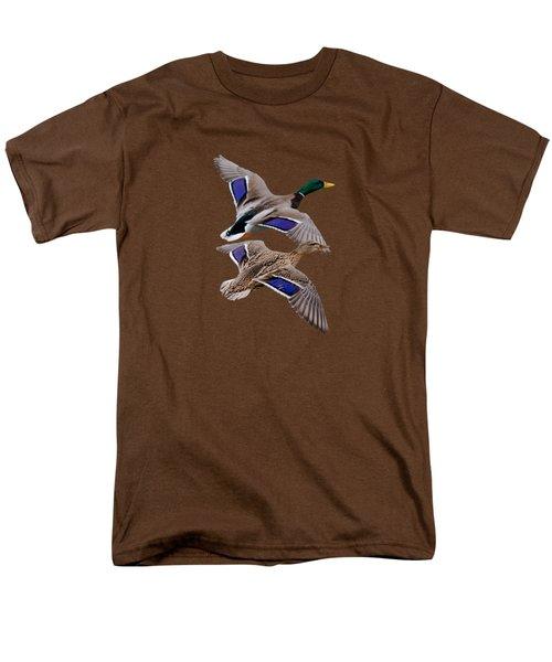 Mallards In Flight  Men's T-Shirt  (Regular Fit) by Jan M Holden