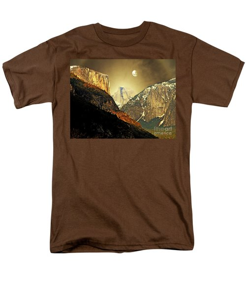 Moon Over Half Dome T-Shirt by Wingsdomain Art and Photography