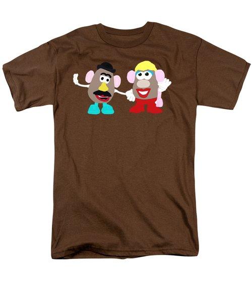 Mr. And Mrs. Potato Head Men's T-Shirt  (Regular Fit) by Priscilla Wolfe