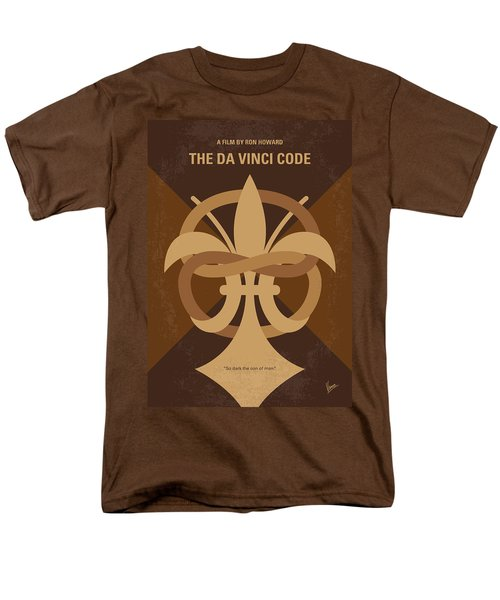 No548 My Da Vinci Code Minimal Movie Poster Men's T-Shirt  (Regular Fit) by Chungkong Art
