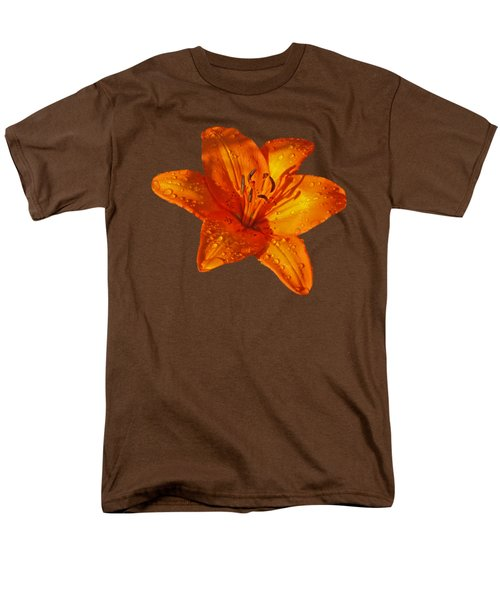 Orange Lily In Sunshine After The Rain Men's T-Shirt  (Regular Fit) by Gill Billington