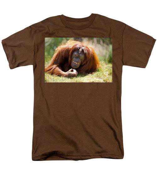 Orangutan In The Grass Men's T-Shirt  (Regular Fit) by Garry Gay