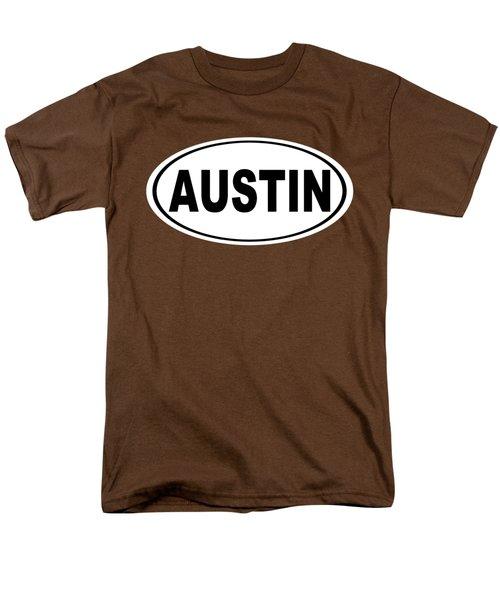 Oval Austin Texas Home Pride Men's T-Shirt  (Regular Fit) by Keith Webber Jr