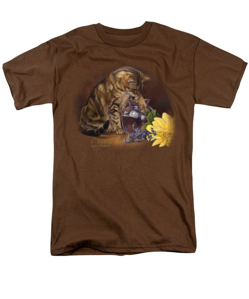 Paw In The Vase Men's T-Shirt  (Regular Fit) by Lucie Bilodeau