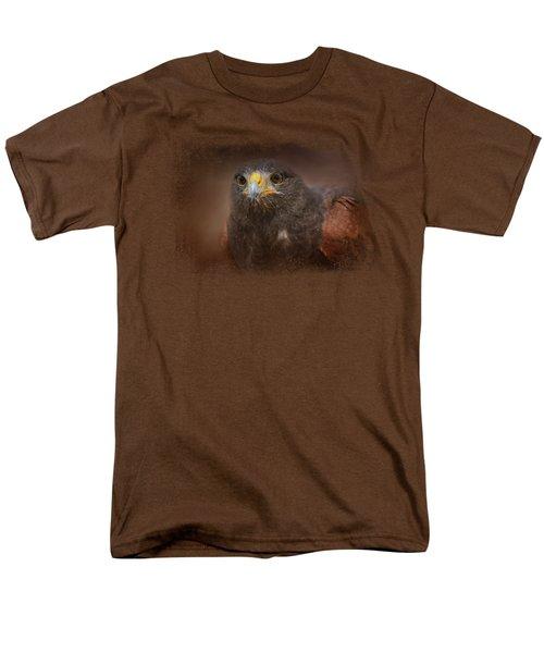 Portrait Of The Harris Hawk Men's T-Shirt  (Regular Fit) by Jai Johnson