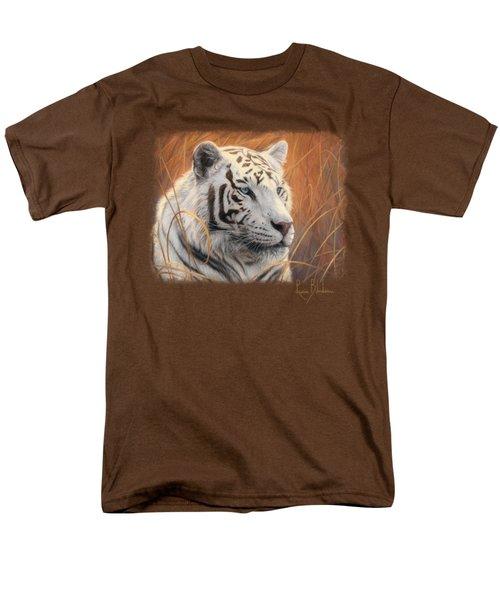 Portrait White Tiger 2 Men's T-Shirt  (Regular Fit) by Lucie Bilodeau