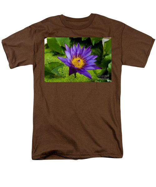 Purple Water Lily T-Shirt by Ray Laskowitz - Printscapes