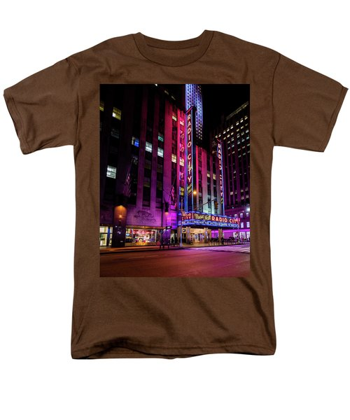 Men's T-Shirt  (Regular Fit) featuring the photograph Radio City Music Hall by M G Whittingham