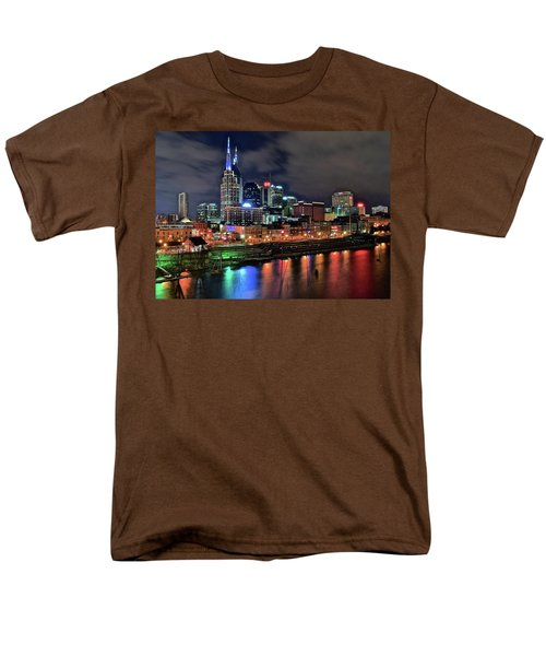 Rainbow On The River Men's T-Shirt  (Regular Fit) by Frozen in Time Fine Art Photography
