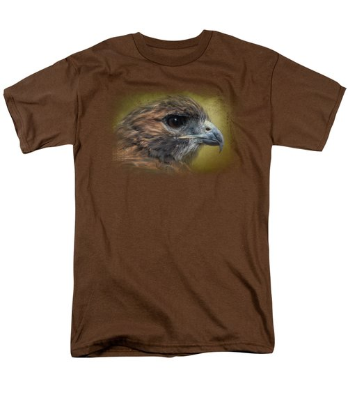 Red Tailed Hawk At Reelfoot Men's T-Shirt  (Regular Fit) by Jai Johnson
