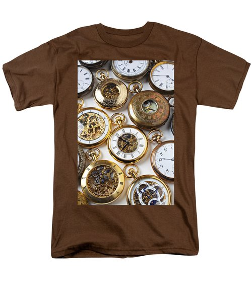 Rows Of Pocket Watches T-Shirt by Garry Gay