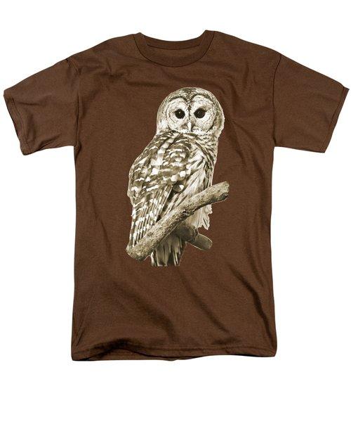 Sepia Owl Men's T-Shirt  (Regular Fit) by Christina Rollo