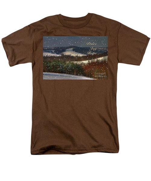 Soft Sifting Christmas Card T-Shirt by Lois Bryan