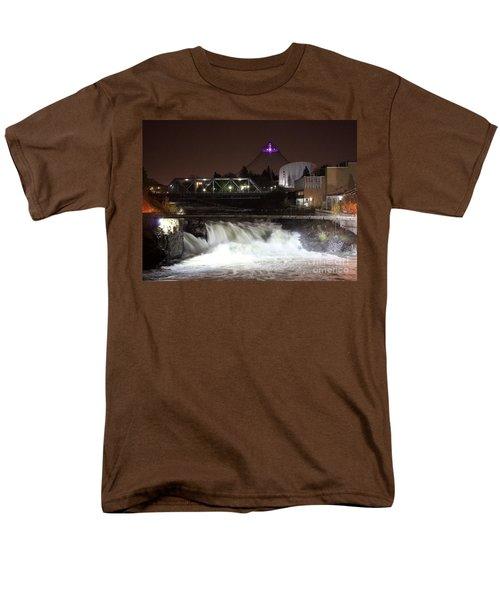 Spokane Falls Night Scene T-Shirt by Carol Groenen