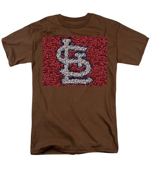 St. Louis Cardinals Bottle Cap Mosaic T-Shirt by Paul Van Scott