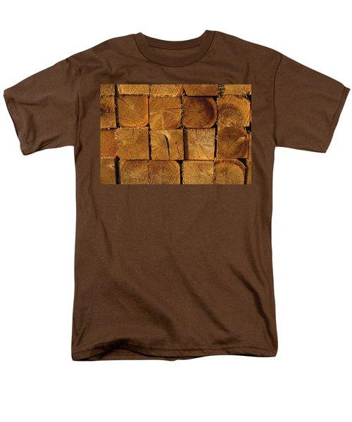 Stack Of Logs T-Shirt by David Chapman