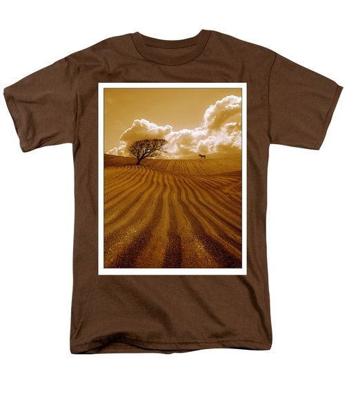 The Ploughed Field Men's T-Shirt  (Regular Fit) by Mal Bray