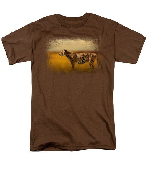 Tiger In The Golden Field Men's T-Shirt  (Regular Fit) by Jai Johnson