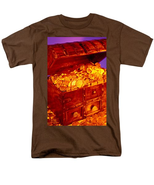 Treasure chest with gold coins T-Shirt by Garry Gay