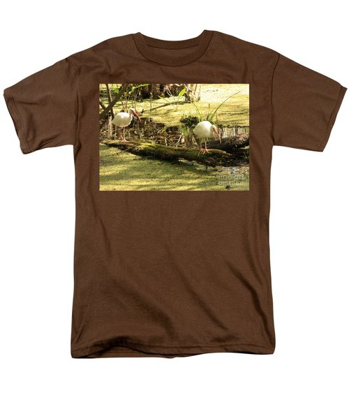 Two Ibises On A Log Men's T-Shirt  (Regular Fit) by Carol Groenen