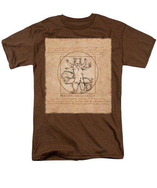 Vitruvian Squirrel Men's T-Shirt  (Regular Fit) by Katherine Nutt