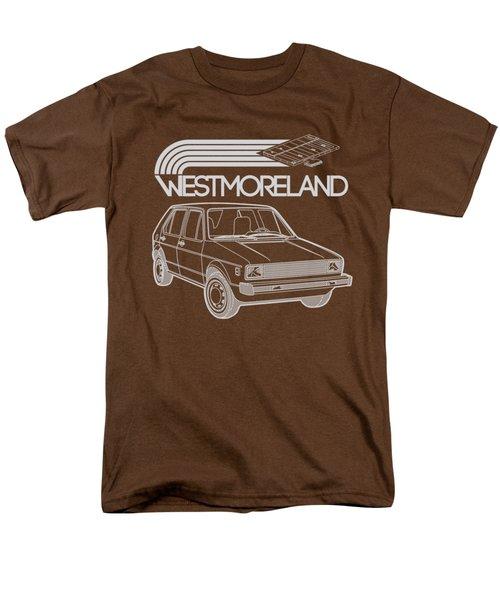 Vw Rabbit - Westmoreland Theme - Gray Men's T-Shirt  (Regular Fit) by Ed Jackson
