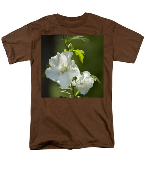White Rose of Sharon Squared T-Shirt by Teresa Mucha