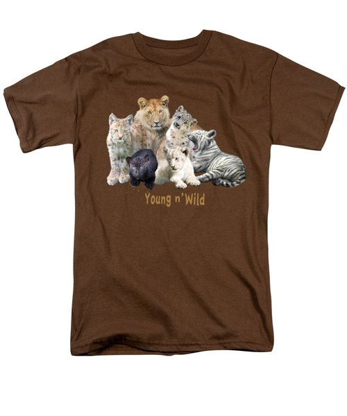 Young And Wild Men's T-Shirt  (Regular Fit) by Carol Cavalaris