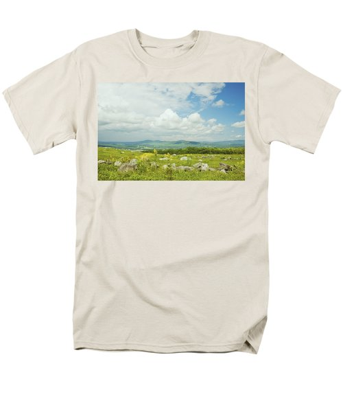 Large Blueberry Field With Mountains And Blue Sky In Maine T-Shirt by Keith Webber Jr