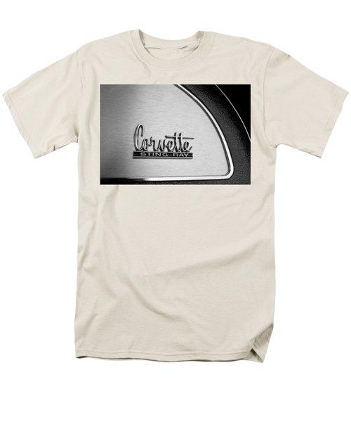 1967 Chevrolet Corvette Glove Box Emblem T-Shirt by Jill Reger