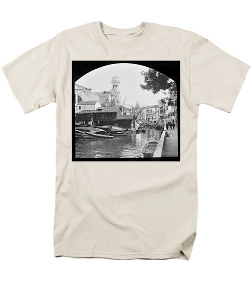 Men's T-Shirt  (Regular Fit) featuring the photograph Pegnitz River Nuremberg Germany 1903 by A Gurmankin