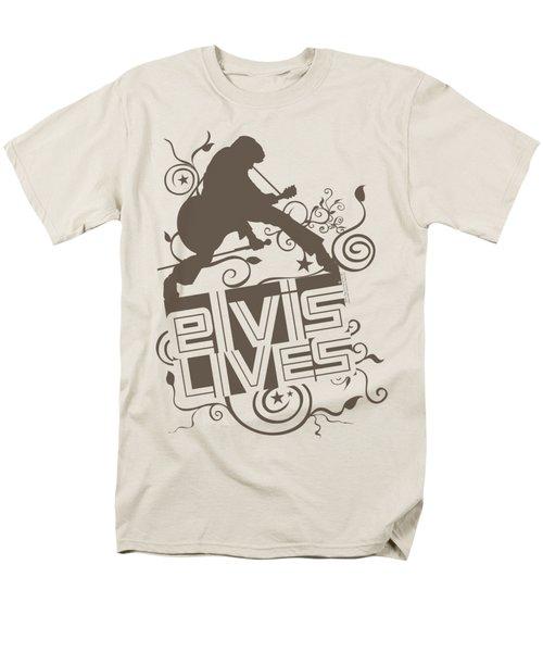 Elvis - Elvis Lives Men's T-Shirt  (Regular Fit) by Brand A