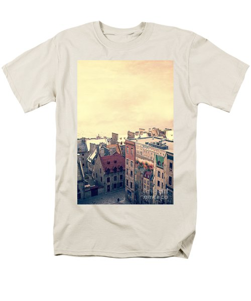 Streets of Old Quebec City T-Shirt by Edward Fielding