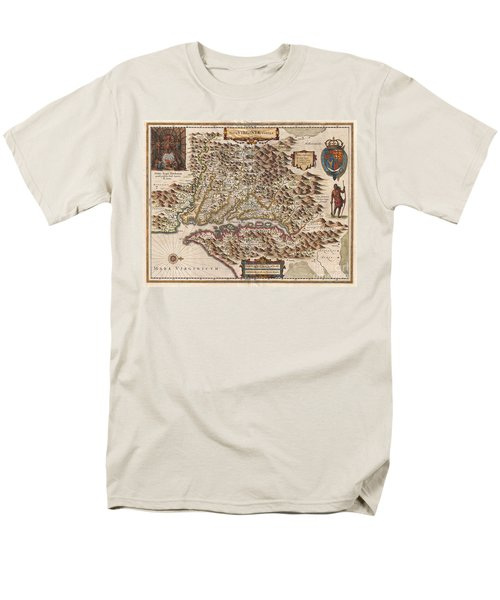 1630 Hondius Map of Virginia and the Chesapeake T-Shirt by Paul Fearn