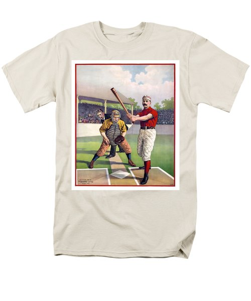 1895 BATTER UP AT HOME PLATE T-Shirt by Daniel Hagerman