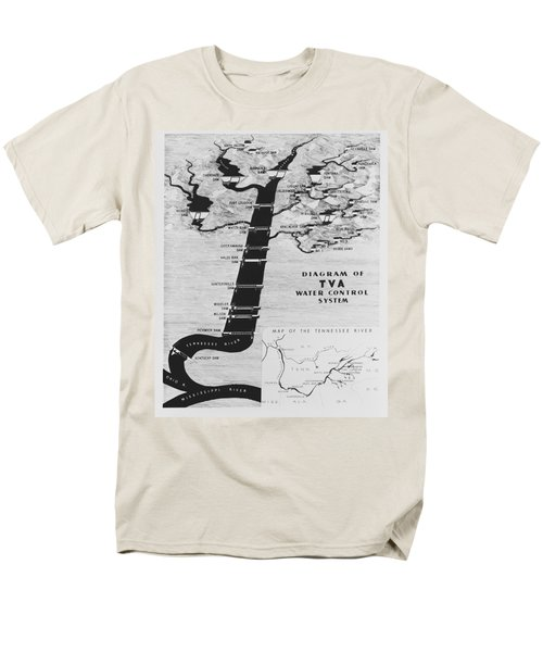 1933 TENNESSEE VALLEY AUTHORITY MAP T-Shirt by Daniel Hagerman